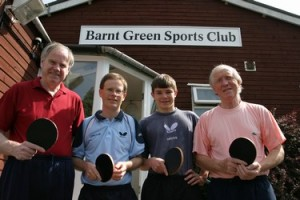 Table tennis at Barnt Green Sports Club