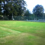 Grass court 3 before construction
