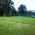The grass court before building court no.3