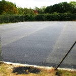 Very fresh tarmac