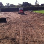 Removal of topsoil