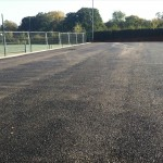 Fresh tarmac on court 3
